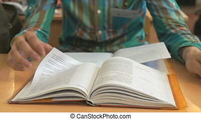 Student reads the tutorial on the lesson - The student...