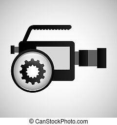 video production concept gear button