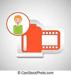 cartoon roll camera photo guy design vector illustration eps...