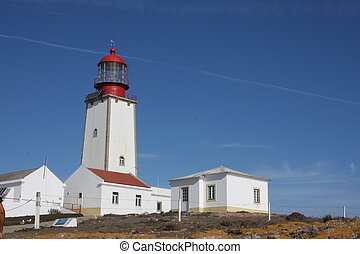Peniche lighthouse, Portugal - The lighthouse at Peniche,...