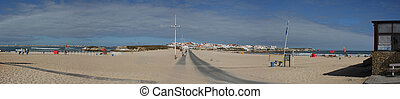 View from peninsula near Peniche, Portugal - A panorama view...