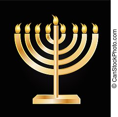 Menorah symbol icon