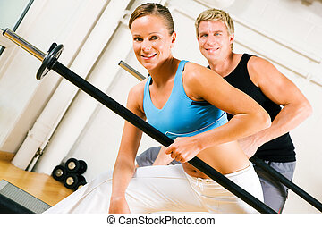 Power gymnastics with barbells - Very attractive and...