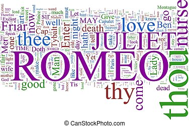 Word cloud - Romeo and Juliet - A word cloud based on...