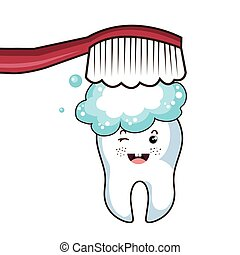 Dental care tooth character