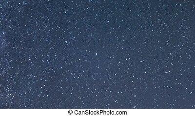 Clear starry sky. Zoom. UltraHD (4K)