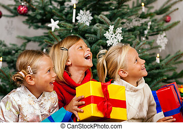 Christmas - Children with presents