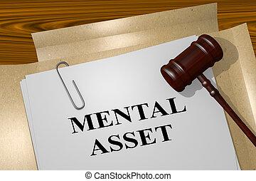 Mental Asset - legal concept - 3D illustration of 'MENTAL...