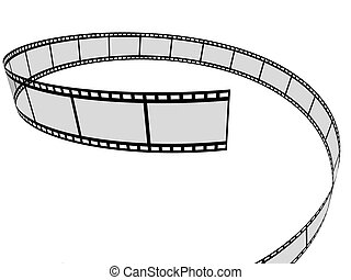 film - 3d rendered illustration from a part of a film stripe
