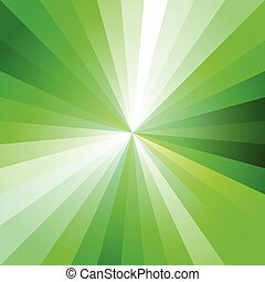 Green Light Ray Abstract Background Vector Illustration...