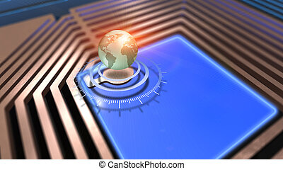Technology abstract background, concept of global network