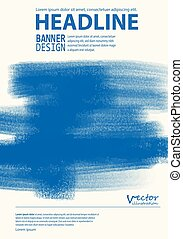 Brochure with Multicolored Blured Backgrounds. - Business...