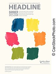 abstract watercolor style brochure design.
