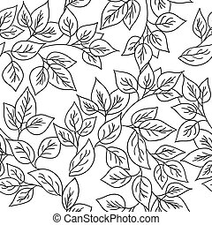 Vector seamless pattern with autumn leaves. - Vector...