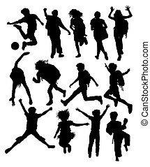Back to School Silhouettes