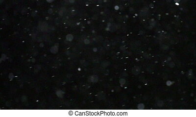 Winter Snowfall Slow Motion - Winter snowfall. Snow Slow...