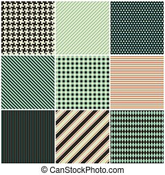 collection of nine seamless patterns for the fabric