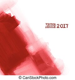 Abstract inkblot background. - Red Hand drawn abstract...