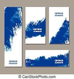 Original grunge art brush paint texture background - Blue...