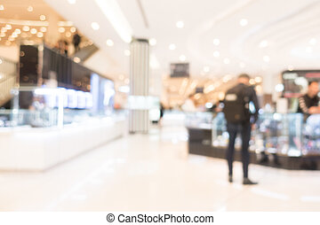 Abstract blur shopping mall and retail store interior for...