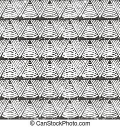 Vector seamless tribal pattern. Hand-drawn abstract...