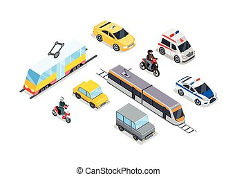 Public Transportation. Traffic Items Collection. - Public...