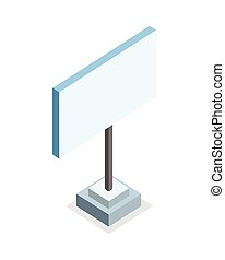 Isometric Blank Advertising Billboard