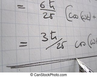 The right result - Hand written physics calculations on...