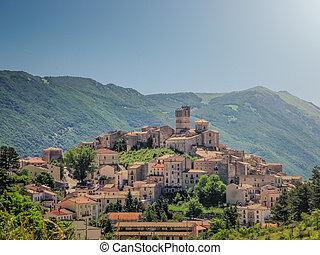Idyllic apennine mountain village Castel del Monte,...
