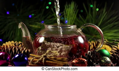 Process of making Christmas berry herbal tea