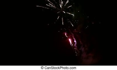 Fireworks light up the sky with dazzling display Ukraine