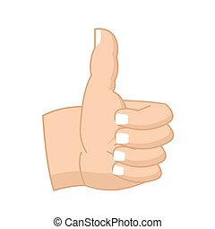 Thumbs up hand sign isolated. like Symbol all right. Success...