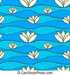 simple pattern with water lily
