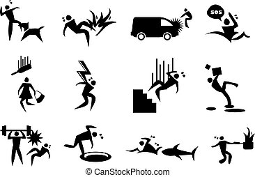 Accident, mishap and Disaster Vector Icons - Vector...