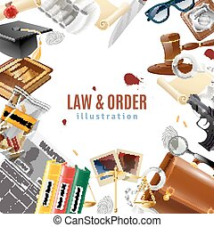 Law And Order Frame Composition Poster - Law and order...