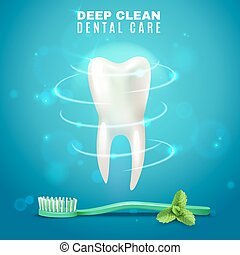 Deep Cleaning Dental Care Background Poster