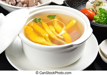 Lily flower and sparerib soup - A Popular Taiwan food