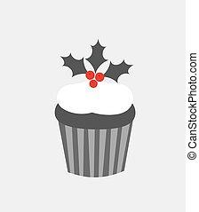 Christmas cupcake icon