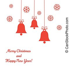 Christmas bells background. Vector illustration