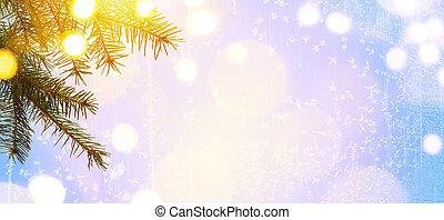 fény, művészet, karácsony, fa, ünnepek