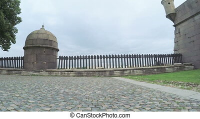 Walls Peter and Paul fortress and park - RUSSIA, SAINT...