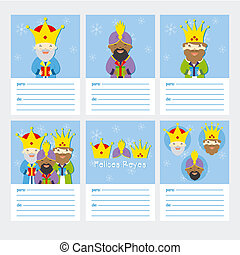 Happy Epiphany - Collection of 6 Christmas card templates....