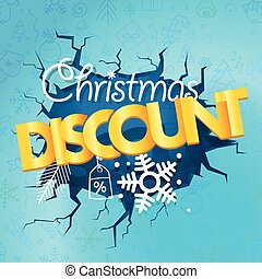 Winter season discount banner. Christmas discount concept...