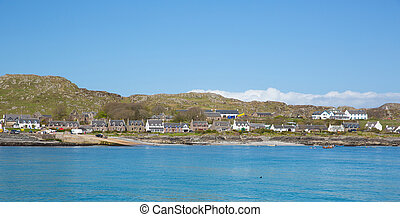 Isle of Iona Scotland uk Inner Hebrides Scottish island off...