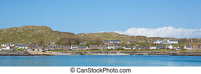 Panoramic view Scottish island of Iona Scotland uk - Iona...