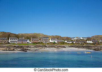 Scottish island of Iona Scotland uk Inner Hebrides white...