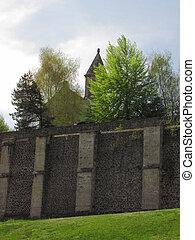 iglesia, muralla