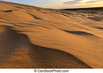 White sand dunes at Mui Ne - Close up of white sand dunes at...