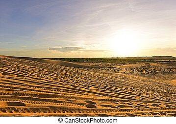 White sand dunes at Mui Ne