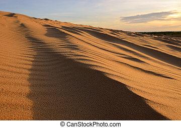 White sand dunes at Mui Ne, Vietnam.